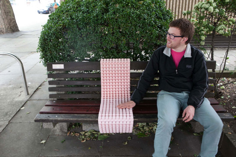 Anne Deeming's missing bench work on Victoria Street